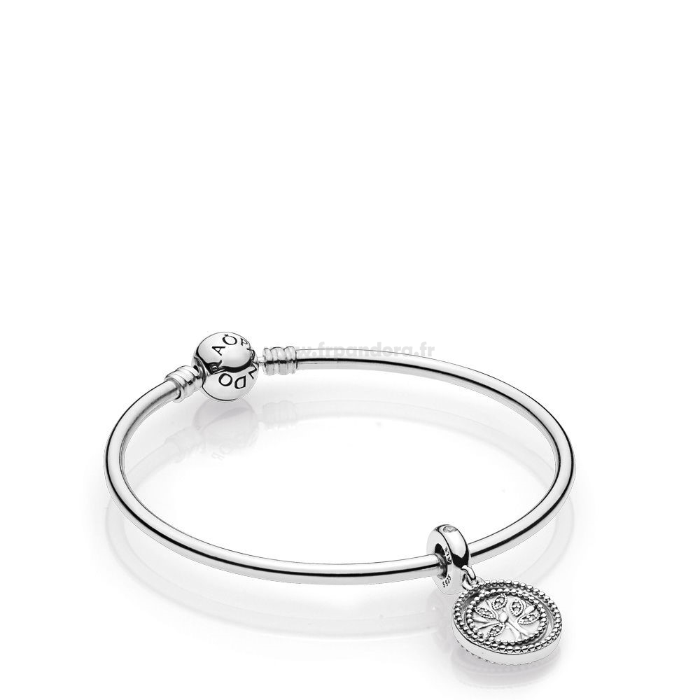 Soldes Family Tree Bangle Gift Set Personnalisé