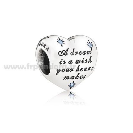 Soldes Disney Breloques Cendrillon Dream Charm Fancy Light Blue CZ Personnalisé