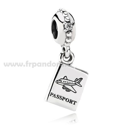 Soldes PANDORA Dangles Aventure Awaits Dangle Charm Clear CZ Personnalisé
